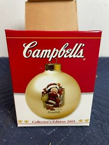2005 Campbells Soup Kids Collectors Edition Ball Ornament IN BOX  NEW