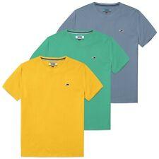 Camiseta Tommy Hilfiger-Tommy Jeans sobre lavados Tee-Azul, Amarillo, Aqua-Bnwt