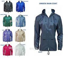 Nylon Patternless Raincoats for Women