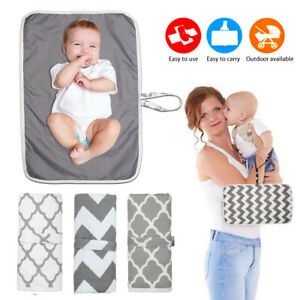 Newborn Baby Portable Foldable Washable Travel Nappy Diaper Changing Mat Pad