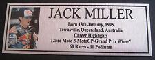 JACK MILLER Sublimated Silver or Gold Plaque