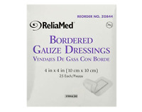 BOX OF 25! Bordered Gauze 4x4 Sterile Dressing Bandage Pads Reliamed *DEAL*
