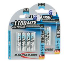 8x Ansmann AAA Micro Akku HR03 1,2V 1050mAh NiMH Schnellladung,Kameras, TV