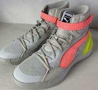 PUMA Basketball Shoe NEW Hoops Sky Modern OSG Glacier Grey Fizz Yellow Men sz 11
