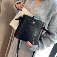 Leather Alligator Pattern Messenger Handbags Women Crossbody Shoulder Bags Totes