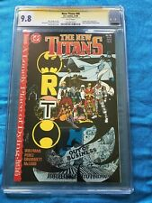 New Titans #60 - DC - CGC SS 9.8 NM/MT - Signed by George Perez