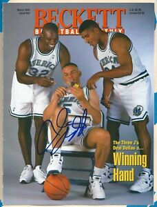 Jason Kidd Signed Beckett Magazine Cover Only March 1995 A Dallas Mavericks