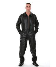 New Genuine leather Overall Dungree Jumpsuit Suit Dress Uniform Pilot Gay Fetish