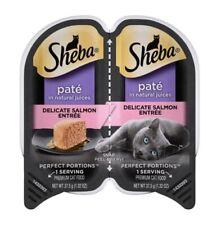 SHEBA Cat Food Delicate Salmon Perfect Portion Pate 12 Each - 24 1.3oz Servings