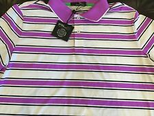 RLX Ralph Lauren Golf men's lilacwhite striped polo shirt,size XL,MSRP$89.50,NWT