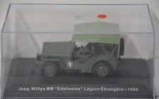1 ) DeAgostini Willys MB Jeep Edelweiss Legion Etrangere 1960 -in OVP ca. 1:43