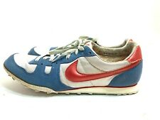 Rare Vintage 80's NIKE Waffle Running Shoes Silver Red White NOS  Size 12