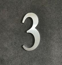 Zahl 3 Metall Edelstahl Zahlen Hausnummern Schilderbeschriftung Schriftzüge 6cm
