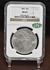 1887 Morgan Dollar - NGC CAC MS63 (#12128)