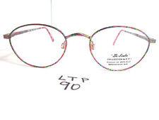 Vtg 80s Coi La Scala Eyeglass Frame 945 Round Demi Pink Womens (Ltp-90)