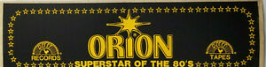 Jimmy Orion Superstar of the 80s Vtg Rare Bumper Sticker Decal Sun Records