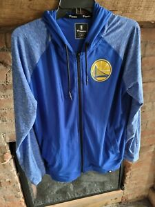 Fanatic Golden State Warrior Zip Up Hoodie, Size Large, Excellent Condition A1