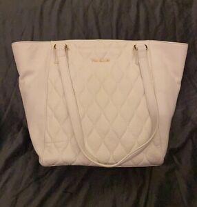 Vera Bradley ~ Small Ella Tote ~ New ~ White Sycamore Leather