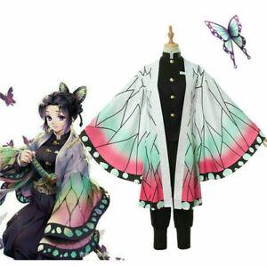Anime Demon Slayer: Kimetsu no Yaiba Kochou Shinobu Cosplay Kostüm Unisex 2020