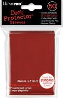 Ultra Pro Deck Protector Sleeves - Standard Sized - Red  (100 Count)