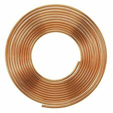 "1/2"" - 15 METRE SOFT ROLLED COIL COPPER PIPE - AIR CONDITIONING PIPE"