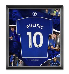 Christian Pulisic Signed & Framed Chelsea F.C. Champions League Shirt AFTAL COA