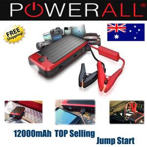 Powerall Professional 12000mAh LIithium Jump Starter Power Bank LED Flashlight