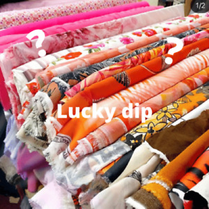 Luck Dip Bag Bundle of Dress Fabric, Mixed Lot, Jersey, Cotton, linings and more