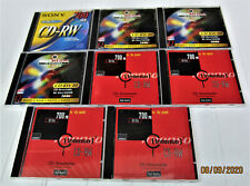 CD-RW 80 Rohlinge gebraucht / versch.Fabr. / 650-700 MB / 8 Stück