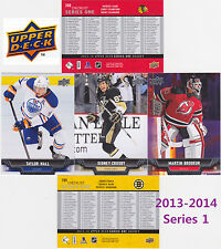 2013 13-14 Upper Deck series 1 complete base set w/o RC's (#1-200) hockey