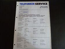 Original Service Manual Telefunken  Rc 775 HP 105