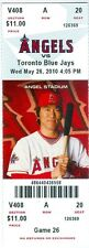 2010 Angels vs Blue Jays Ticket: Hideki Matsui hit tiebreaking two-run homer