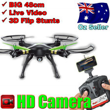 RC Quad Copter Drone with Video Streaming Camera Smart Phone iPhone Samsung Gyro