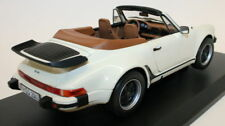 Norev 1/18 Scale - Porsche 911 930 Shape Turbo Cabriolet Ivory Diecast Model Car