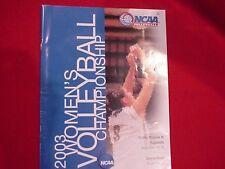 20003 NCAA Women's Volleyball Championships Program - Division III Regionals