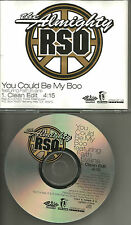 Benzino ALMIGHTY RSO & FAITH EVANS You Could be My Boo w/EDIT PROMO DJ CD r.s.o.