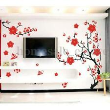 Red Plum Blossom Flower Removable Viny Wall Decal Sticker Art DIY Home Decor