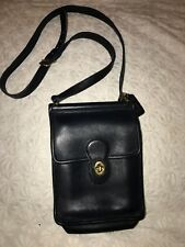 Coach Purse Classic Black leather Coach Murphy Cross-body Small Messenger Bag