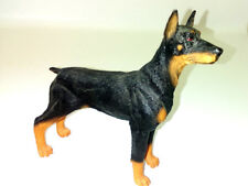 "Doberman Pinscher Figurine 4.5"" Black Dog Canine Collection