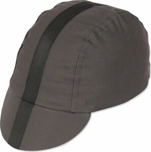 Pace Sportswear Classic Cycling Cap Charcoal with Black Tape XL