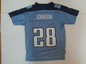VTG Chris Johnson #28 Tennessee Titans NFL Football Jersey Youth M , Woman's S