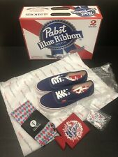 RARE Vans Authentic Shoes Pabst Blue Riboon PBR Sneaker Mens 8.5 Womens 10 NEW!