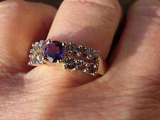 Schöner Ring mit Amethyst und Tansanit, GG 333, RW 18