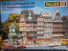 Faller H0 Stadthausset 5 Bausätze wie Set Bad Bergheim, Karlsberg  Römerberg NEU