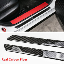 2x Universal Car Scuff Plate Door Sill Panel Step Protector Guard Carbon Fiber