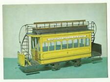 Double-Deck Tramcar Trailer 1879 model postcard