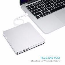 External USB2.0 DVD CD-RW Drive Writer Burner DVD Player for MAC Macbook Air/Pro