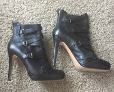 Boutique 9 Leather High Heel Booties Boots 8.5 Run Big