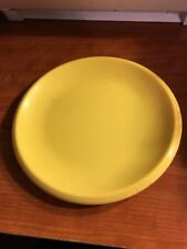 Vintage LITTLE TIKES YELLOW DINNER PLATE Play Kitchen Pretend Dish