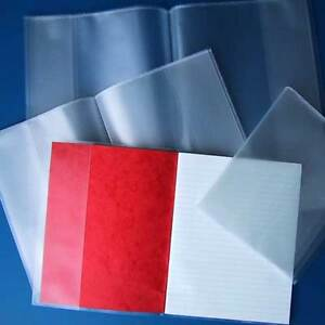 3 X STRONG A5 Plastic School Exercise Book Covers Protective Sleeves/ Jackets